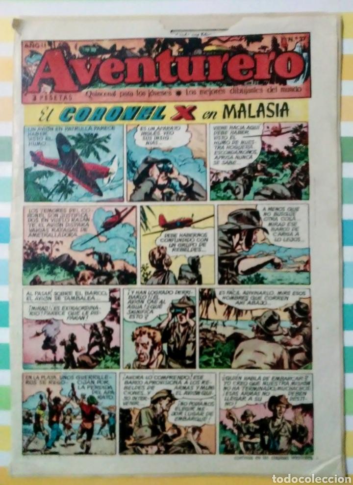 CORONEL X EN MALASIA Nº 37 AVENTURERO AÑO II CLIPER (Tebeos y Comics - Cliper - Aventurero)
