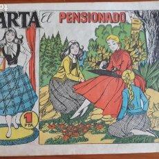 Tebeos: MARTA CLIPER Nº 3 CARMEN BARBERÁ EL PENSIONADO 1958. Lote 215971477