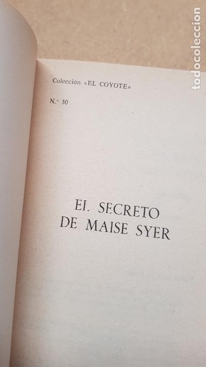 Nº 30 EL SECRETO (Tebeos y Comics - Cliper - El Coyote)