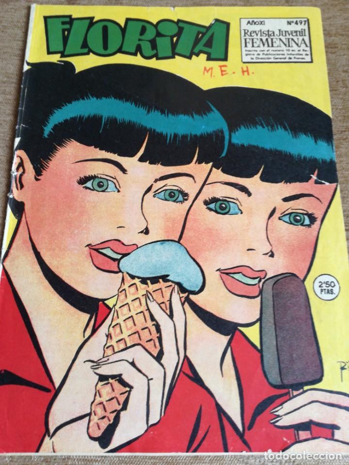 FLORITA NUM 497 (Tebeos y Comics - Cliper - Florita)
