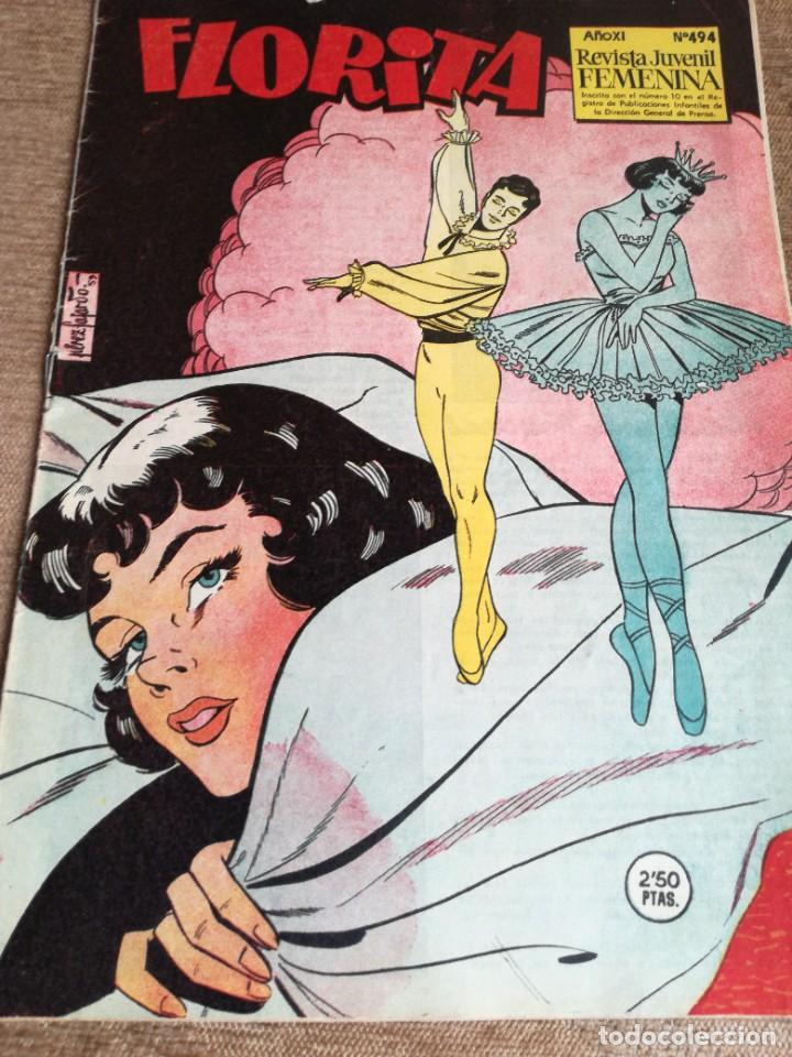 FLORITA NUM 494 (Tebeos y Comics - Cliper - Florita)