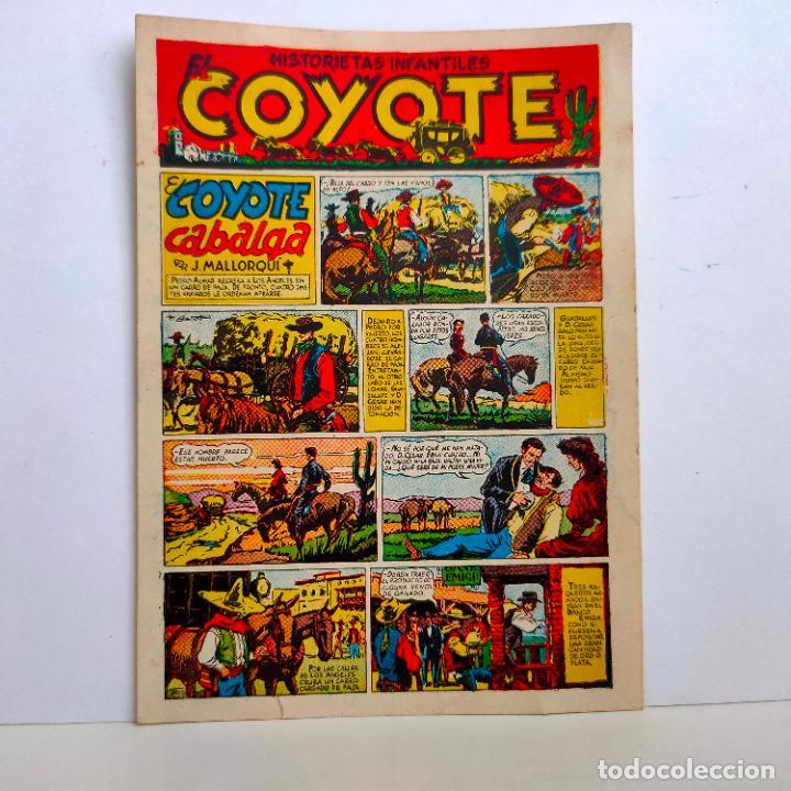 """PROPAGANDA HISTORIETAS INFANTILES """"EL COYOTE"""", PORTADA PRIMER NUMERO. EL COYOTE CABALGA. AÑOS 40. (Tebeos y Comics - Cliper - El Coyote)"""
