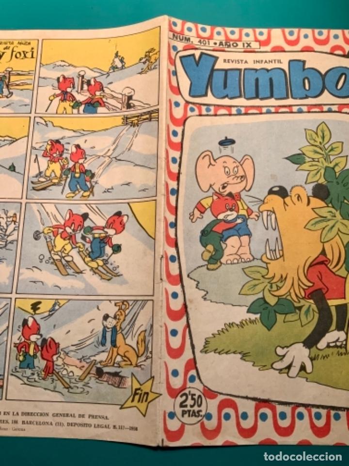 Tebeos: CÓMIC YUMBO NÚMERO 401 AÑO IX DEL 1958 - Foto 3 - 221821987