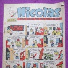 Tebeos: TEBEO NICOLAS Nº203 EL MELON VOLADOR ED. CLIPER ORIGINAL. Lote 221890720