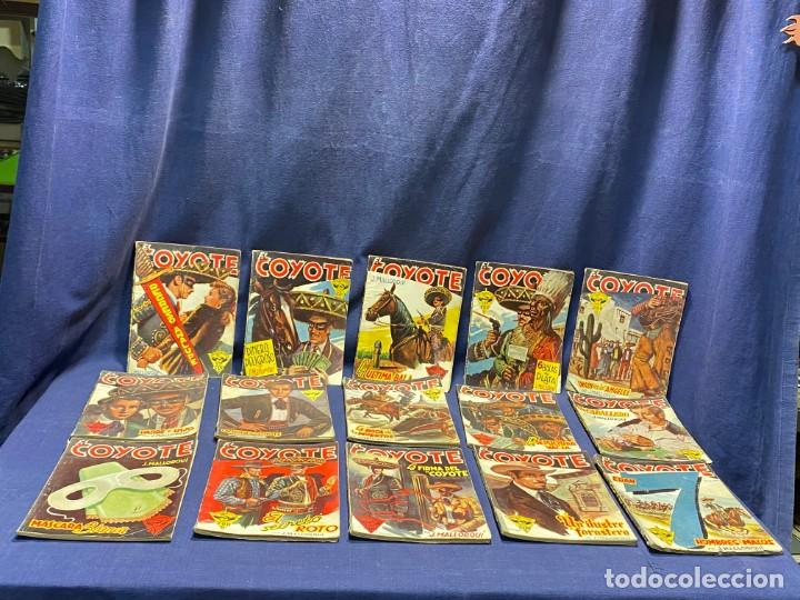 15 NUMEROS EL COYOTE ED CLIPER 1ª EDICION VER DESCRIPCION 19,5X14,5CMS (Tebeos y Comics - Cliper - El Coyote)