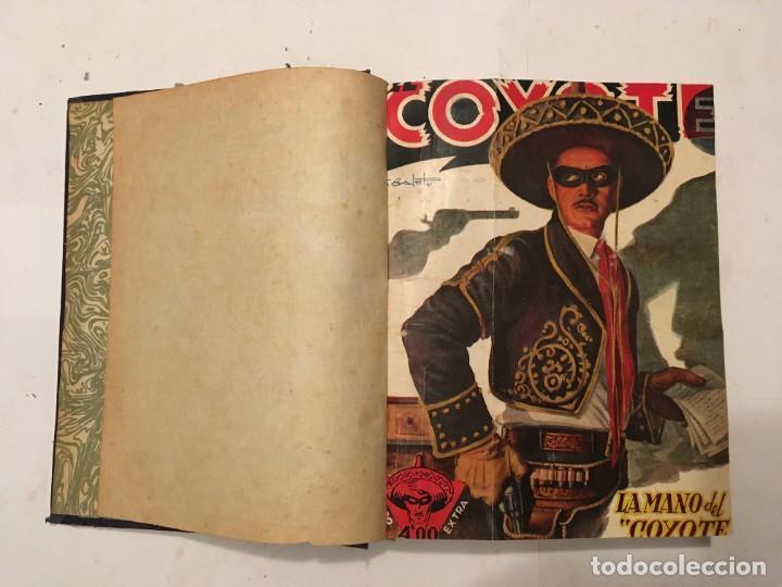 NOVELA EL COYOTE, EXTRAORDINARIO Nº 3 LA MANO DEL COYOTE 4 REVISTAS,PRIMERA EDICION 1946 EDC. CLIPER (Tebeos y Comics - Cliper - El Coyote)