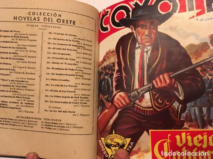 Tebeos: novela el coyote, extraordinario Nº 3 la mano del coyote 4 revistas,primera edicion 1946 edc. cliper - Foto 3 - 224101761