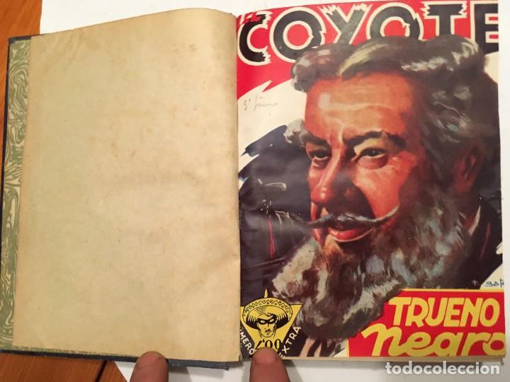 NOVELA EL COYOTE,EXTRAORDINARIO Nº 7 TRUENO NEGRO 3 REVISTAS, PRIMERA EDICION 1946 EDICIONES CLIPER (Tebeos y Comics - Cliper - El Coyote)