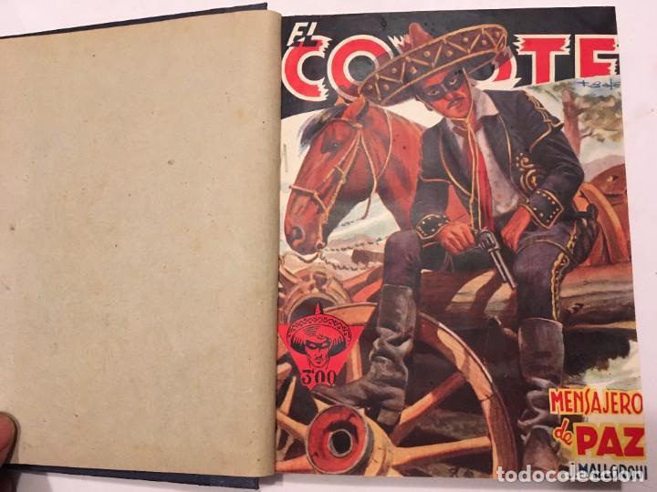 NOVELA EL COYOTE,EXTRAORDINARIO MENSAJERO DE PAZ 4 REVISTAS, PRIMERA EDICION 1946 EDICIONES CLIPER (Tebeos y Comics - Cliper - El Coyote)