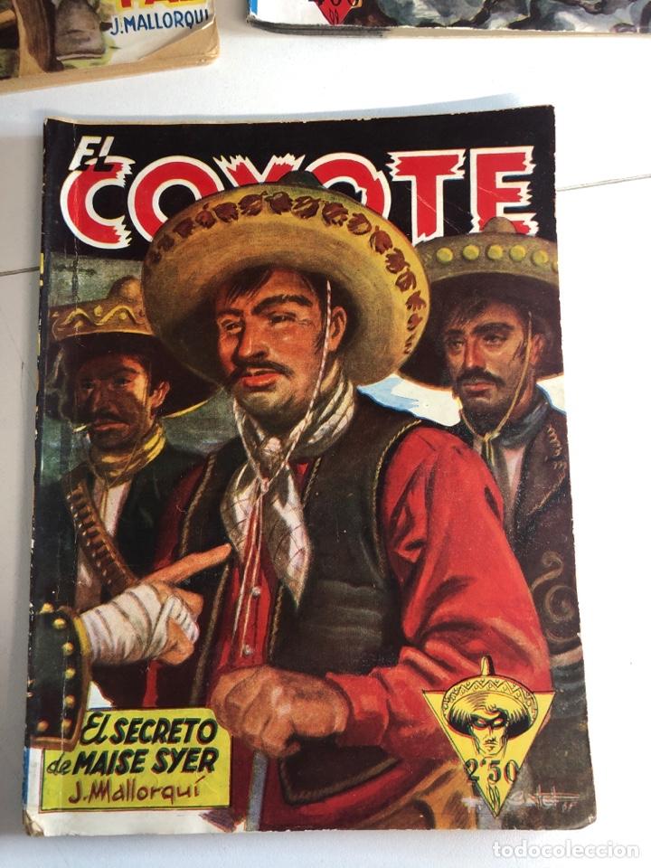 Tebeos: Lote de 5 libros de EL COYOTE POR J.MALLORQUÍ 1946 - Foto 5 - 224712455