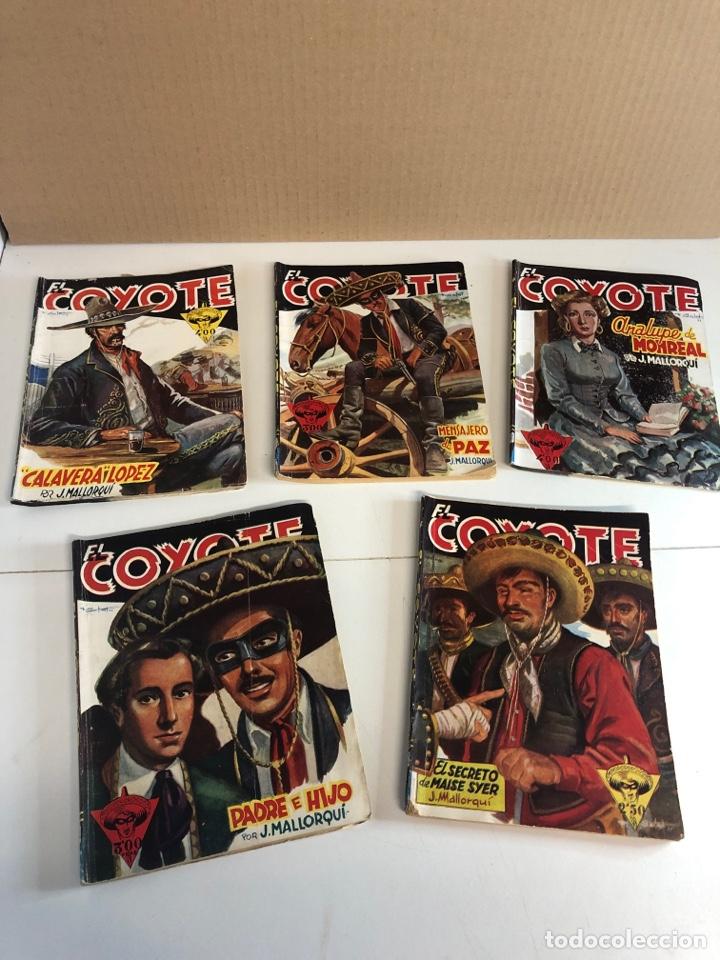 LOTE DE 5 LIBROS DE EL COYOTE POR J.MALLORQUÍ 1946 (Tebeos y Comics - Cliper - El Coyote)