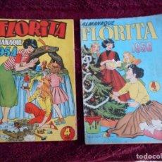 Tebeos: TEBEOS FLORITA ALMANAQUES 1954-1956. Lote 226628225