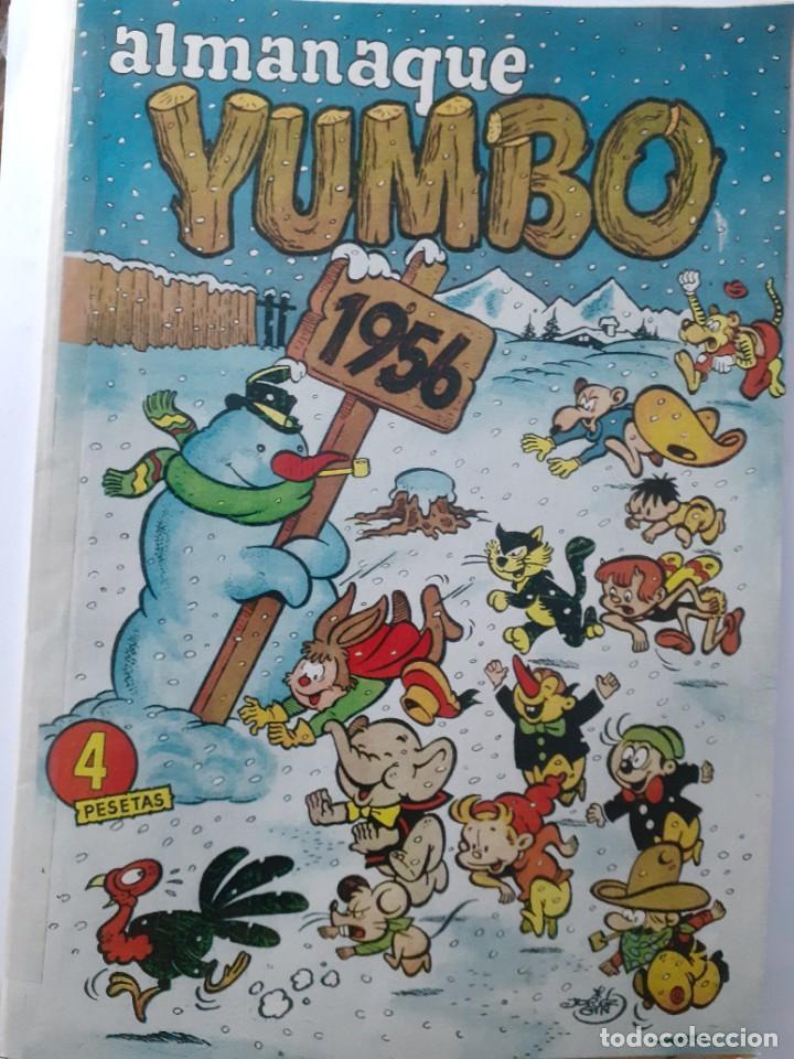 Tebeos: YUMBO-CLIPER-ALMANAQUE PARA 1956-GIN-GARCÍA LORENTE-JULIO MONTAÑÉS-1955-DIFÍCIL-BUENO-LEA-4209 - Foto 2 - 231335735