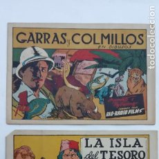 Tebeos: PELICULAS FAMOSSA CON LOS CROMOS - LA ISLA DEL TESORO - GARRAS Y COLMILLOS , MUY NUEVOS. Lote 231621705