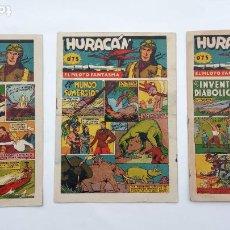 Tebeos: HURACAN EDI. CISNE 1942 ORIGINALES NºS - 6,7,8 - MUY BIEN CONSERVADOS. Lote 231623715