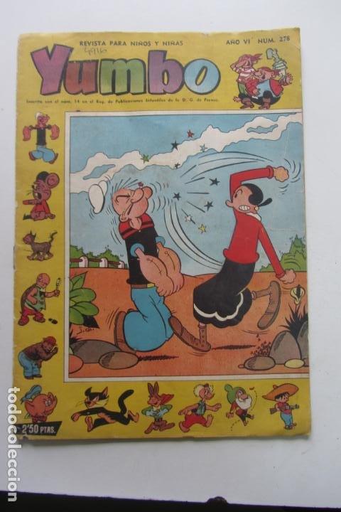 YUMBO AÑO VI Nº 278 POPEYE ORIGINAL ED. CLIPER ARX31 (Tebeos y Comics - Cliper - Yumbo)