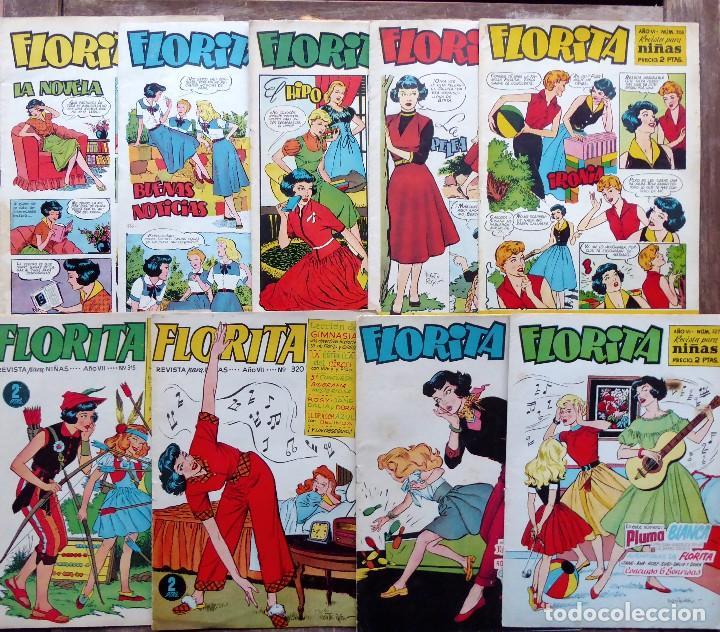 COM-250.FLORITA PARA NIÑAS. LOTE DE 15 REVISTAS. EDICIONES CLIPER. AÑOS 50. VER NÚMEROS. (Tebeos y Comics - Cliper - Florita)