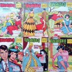 Livros de Banda Desenhada: COM.251. FLORITA PARA NIÑAS. LOTE DE 6 REVISTAS. EDICIONES CLIPER. AÑOS 50. VER NÚMEROS.. Lote 232613050