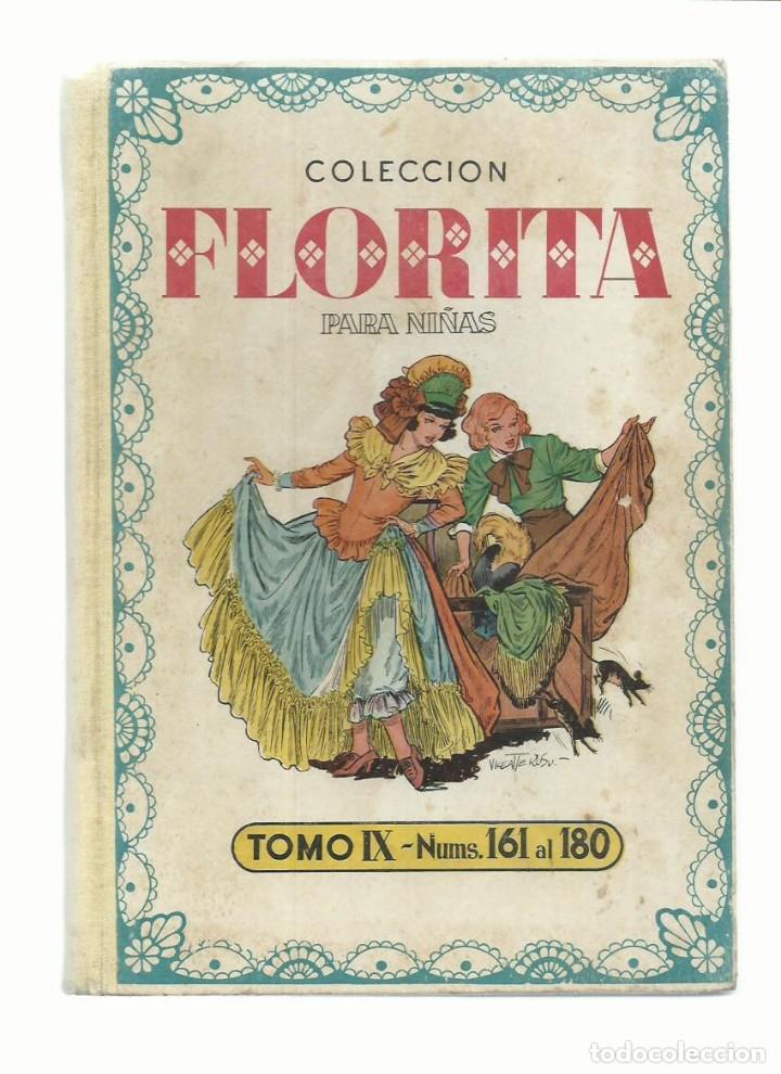 COLECCIÓN FLORITA PARA NIÑAS, TOMO IX (161 AL 180), 1952, CLIPER. MUY BUEN ESTADO. COLECCIÓN A.T. (Tebeos y Comics - Cliper - Florita)
