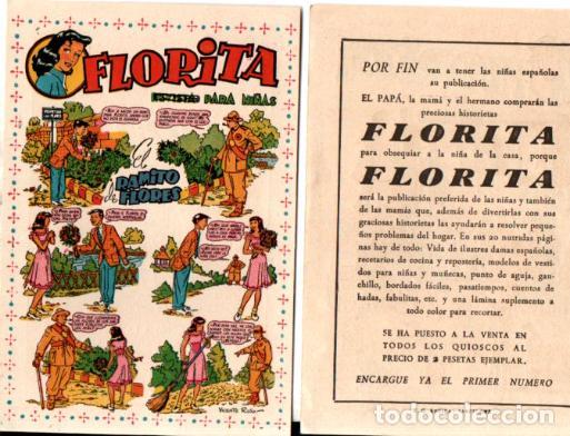 FLYER PUBLICIDAD LANZAMIENTO FLORITA (Tebeos y Comics - Cliper - Florita)
