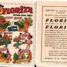 Tebeos: FLYER PUBLICIDAD LANZAMIENTO FLORITA. Lote 169914676