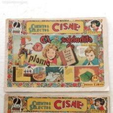 Tebeos: CUENTOS SELECTOS CISNE ORIGINALES NºS - 1 PULGARCITO Y 8 EL SOLDADITO DE PLOMO - EDI. CLIPER 1955. Lote 234410885