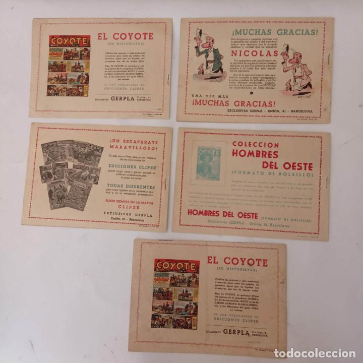 Tebeos: EL ENCAPUCHADO ORIGINALES NºS - 9,12,13,18,24 - EDI. CLIPER 1949 - ADRIANO BLASCO - Foto 2 - 234680150