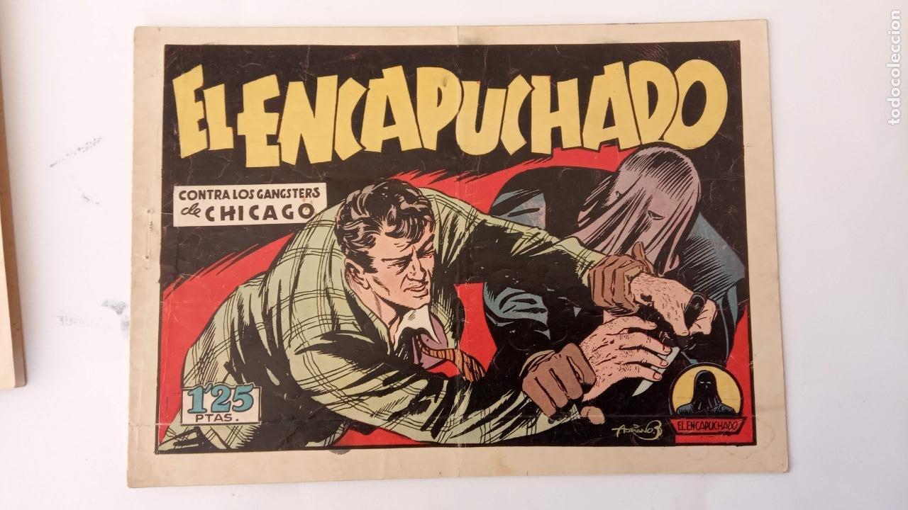 Tebeos: EL ENCAPUCHADO ORIGINALES NºS - 9,12,13,18,24 - EDI. CLIPER 1949 - ADRIANO BLASCO - Foto 4 - 234680150