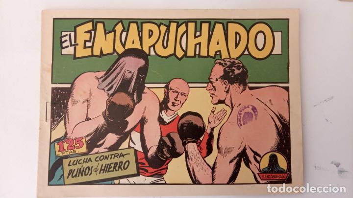 Tebeos: EL ENCAPUCHADO ORIGINALES NºS - 9,12,13,18,24 - EDI. CLIPER 1949 - ADRIANO BLASCO - Foto 6 - 234680150