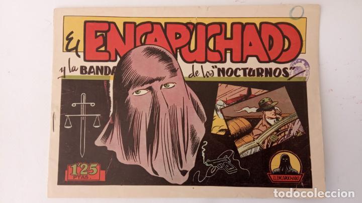 Tebeos: EL ENCAPUCHADO ORIGINALES NºS - 9,12,13,18,24 - EDI. CLIPER 1949 - ADRIANO BLASCO - Foto 8 - 234680150