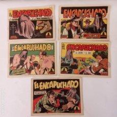 Tebeos: EL ENCAPUCHADO ORIGINALES NºS - 9,12,13,18,24 - EDI. CLIPER 1949 - ADRIANO BLASCO. Lote 234680150