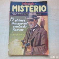 Tebeos: EL PRIMER FRACASO DEL COMISARIO BARROW AUTOR LELAND R. KITCHELL EDICIONES CLIPPER 1944 VER DESCRIP.. Lote 234912245