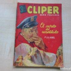 Tebeos: EL SECRETO DEL ACANTILADO POR M.A. ARIEL DIBUJOS MARSENAT SERIE POLICIACA ED. CLIPER HACIA 1944. Lote 234917565