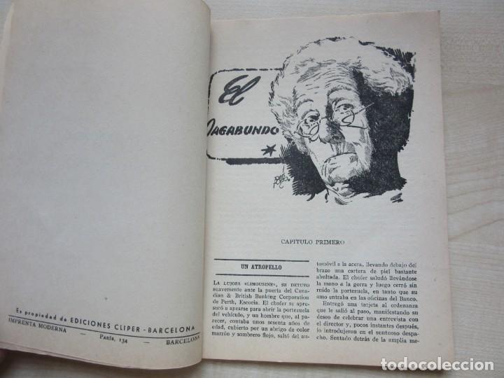Tebeos: El vagabundo por Harris B Cadogan Dibujos Tomás Porto Serie policiaca Ed. Cliper Hacia 1944 - Foto 2 - 234921300