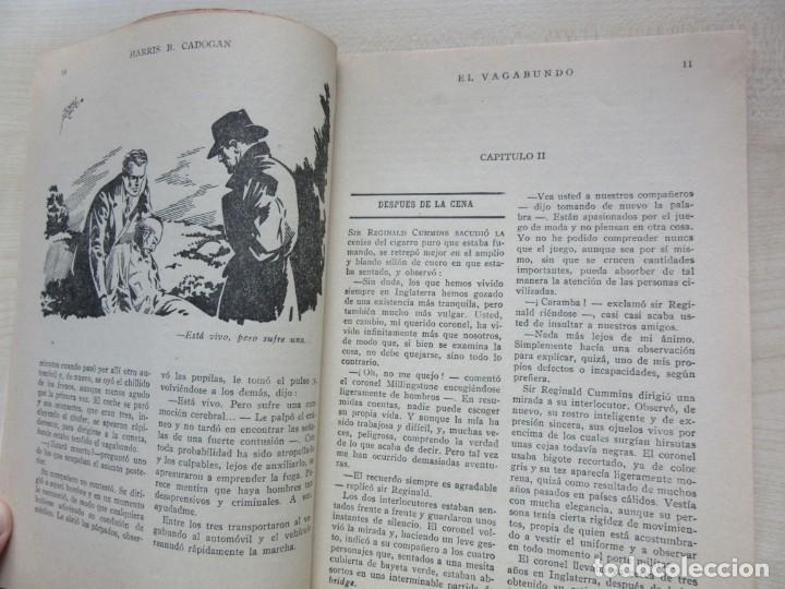 Tebeos: El vagabundo por Harris B Cadogan Dibujos Tomás Porto Serie policiaca Ed. Cliper Hacia 1944 - Foto 3 - 234921300