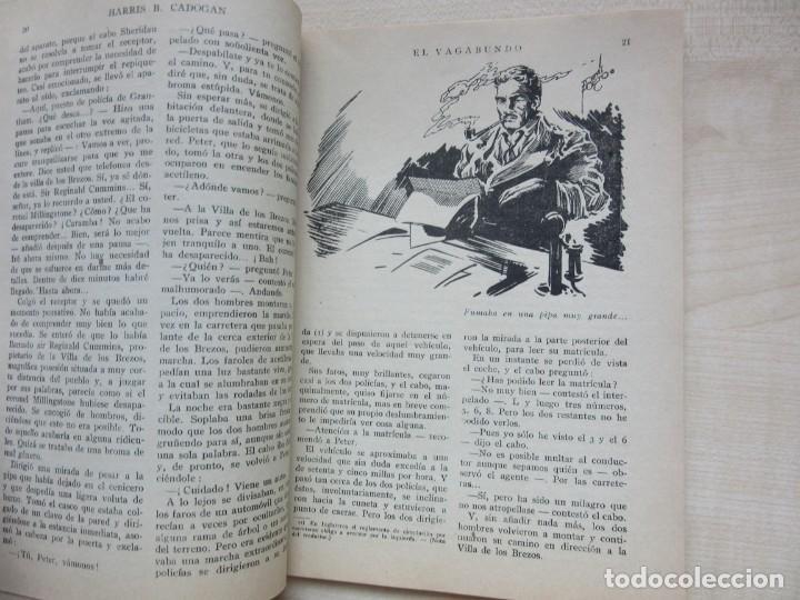 Tebeos: El vagabundo por Harris B Cadogan Dibujos Tomás Porto Serie policiaca Ed. Cliper Hacia 1944 - Foto 4 - 234921300