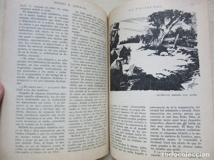 Tebeos: El vagabundo por Harris B Cadogan Dibujos Tomás Porto Serie policiaca Ed. Cliper Hacia 1944 - Foto 5 - 234921300