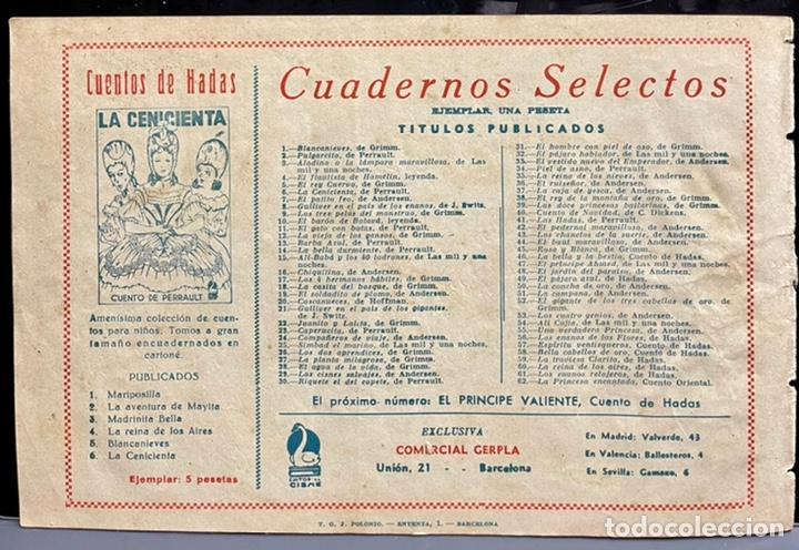 Tebeos: CUADERNOS SELECTOS CISNE Nº 62. LA PRINCESA ENCANTADA. TOMAS PORTO. ORIGINAL DIFICIL. GERPLA/CLIPER - Foto 6 - 234970060
