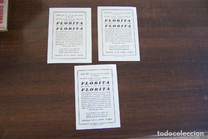 Tebeos: 3 ENCARTE PUBLICITARIO DE FLORITA - Foto 2 - 235336755