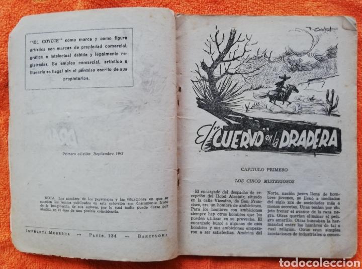 Tebeos: EL CUERVO EN LA PRADERA~EL COYOTE - 1947~1ªEd - J. MALLORQUÍ - ED. CLIPER - PJRB - Foto 2 - 236252130
