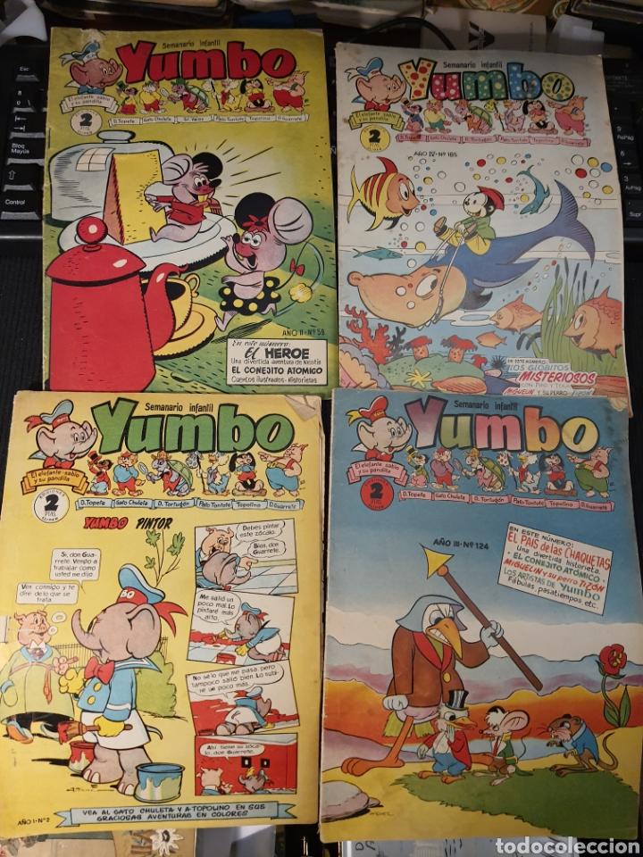Tebeos: Semanario infantil Yumbo .12 numeros . Algunos defectos - Foto 3 - 236256000