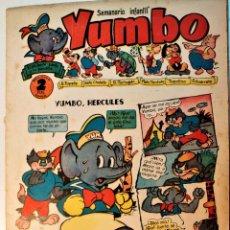 Tebeos: YUMBO, EDITORIAL CLIPER, NÚMERO 11 ORIGINAL 1953. Lote 238738295