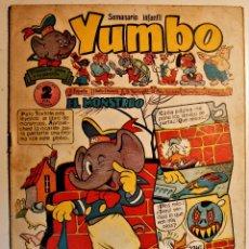 Tebeos: YUMBO, EDITORIAL CLIPER, NÚMERO 16 ORIGINAL 1953. Lote 238853110