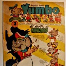 Tebeos: YUMBO, EDITORIAL CLIPER, NÚMERO 18 ORIGINAL 1953. Lote 238853455