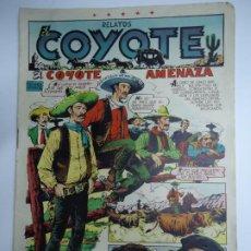 Tebeos: RELATOS EL COYOTE Nº 90 - EL COYOTE AMENAZA. F.BATET - EDICIONES CLIPER MIDE 26 X 18 CM. EN BUEN EST. Lote 241053860