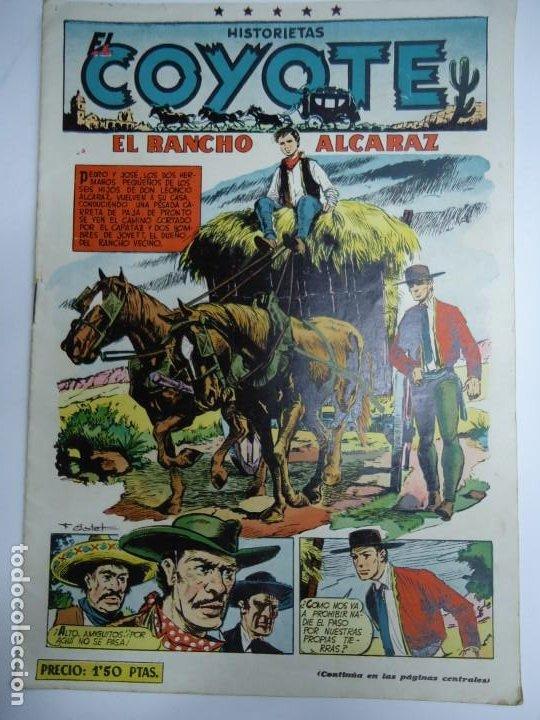 HISTORIETAS EL COYOTE Nº 93 EL RANCHO ALCARAZ F.BATET - EDICIONES CLIPER MIDE 26 X 18 CM. (Tebeos y Comics - Cliper - El Coyote)