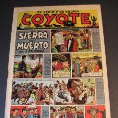 Tebeos: COYOTE, EL (1947, CLIPER) 8 · 30-X-1947 · SIERRA DEL MUERTO. Lote 241422525