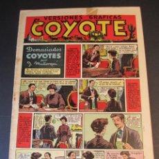 Tebeos: COYOTE, EL (1947, CLIPER) 5 · 18-IX-1947 · DEMASIADOS COYOTES. Lote 241424200