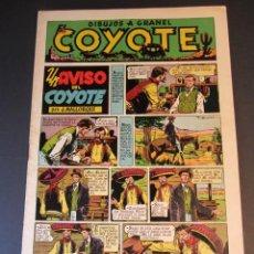 Livros de Banda Desenhada: COYOTE, EL (1947, CLIPER) 9 · 13-XI-1947 · UN AVISO DEL COYOTE. Lote 241450990