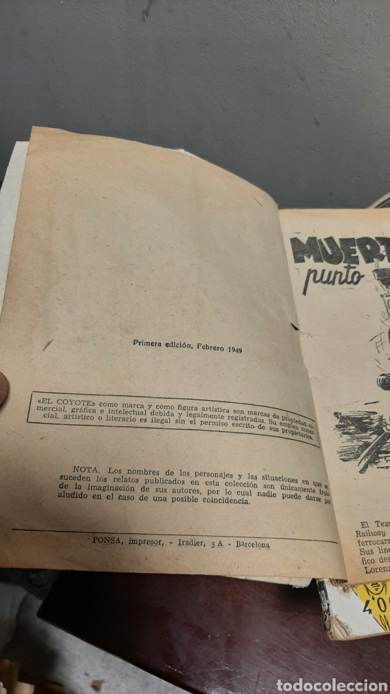 Tebeos: LOTE 13 COMOCS EL COYOTE 1950/1949 VER FOTOS - Foto 6 - 241871945